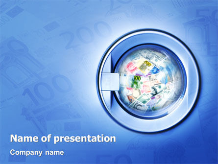 Financial/Accounting: Money Laundering PowerPoint Template #02131