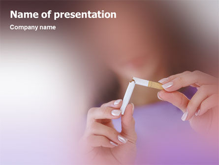 Quit Smoking PowerPoint Template, 02132, Medical — PoweredTemplate.com