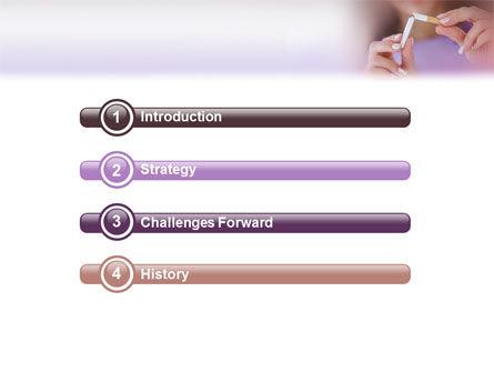 Quit Smoking PowerPoint Template, Slide 3, 02132, Medical — PoweredTemplate.com