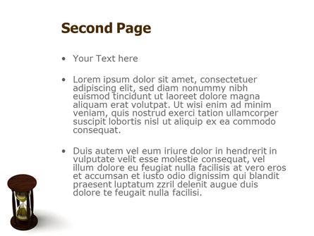 Sand-Glass PowerPoint Template, Slide 2, 02133, 3D — PoweredTemplate.com