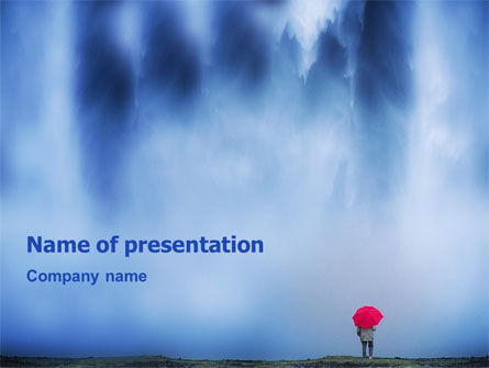 Waterfall PowerPoint Template, 02136, Nature & Environment — PoweredTemplate.com