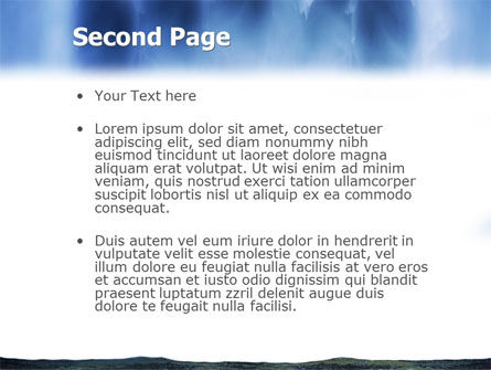 Waterfall PowerPoint Template, Slide 2, 02136, Nature & Environment — PoweredTemplate.com