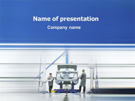 Automobile Industry PowerPoint Template, 02139, Careers/Industry — PoweredTemplate.com