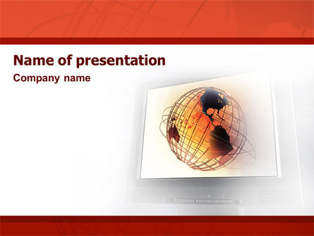 Global: LCD Monitor PowerPoint Template #02140