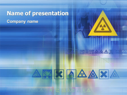 Radioactive Sign PowerPoint Template, 02142, Technology and Science — PoweredTemplate.com
