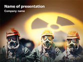 Military: Radioactive Contamination PowerPoint Template #02143