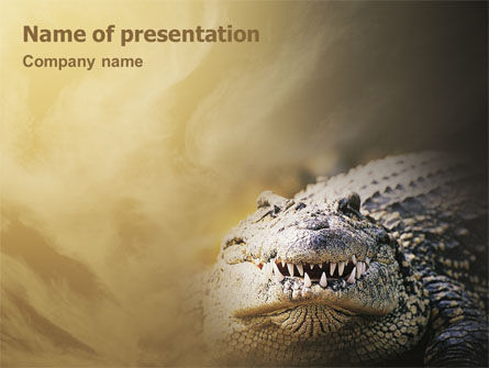 Crocodile PowerPoint Template, 02146, Animals and Pets — PoweredTemplate.com