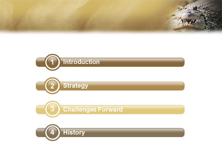Crocodile PowerPoint Template, Slide 3, 02146, Animals and Pets — PoweredTemplate.com