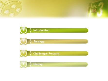 Clinic PowerPoint Template, Slide 3, 02147, Medical — PoweredTemplate.com