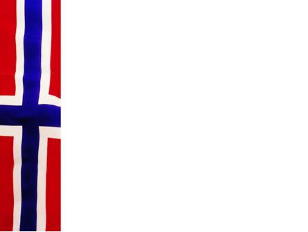 Flag of Norway PowerPoint Template, Slide 3, 02149, Flags/International — PoweredTemplate.com