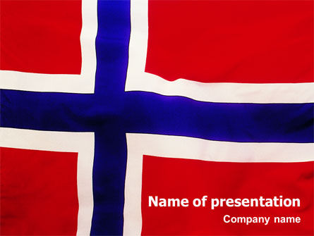 Flags/International: Templat PowerPoint Bendera Norway #02149