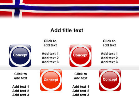 Flag of Norway PowerPoint Template Slide 19