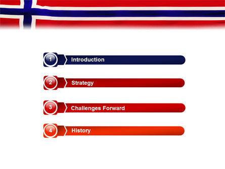 Flag of Norway PowerPoint Template, Slide 3, 02149, Flags/International — PoweredTemplate.com