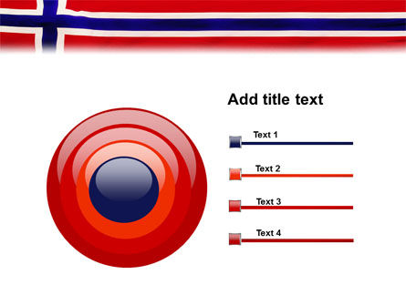Flag of Norway PowerPoint Template Slide 9