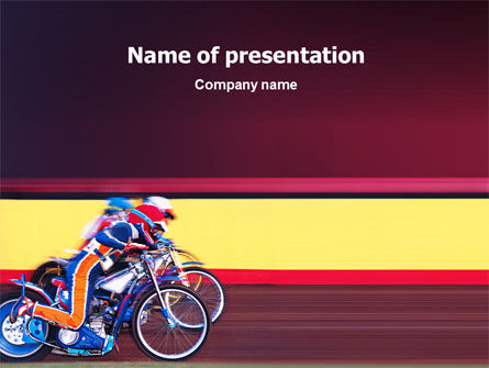 Motorcycle Sport Free PowerPoint Template, 02150, Sports — PoweredTemplate.com