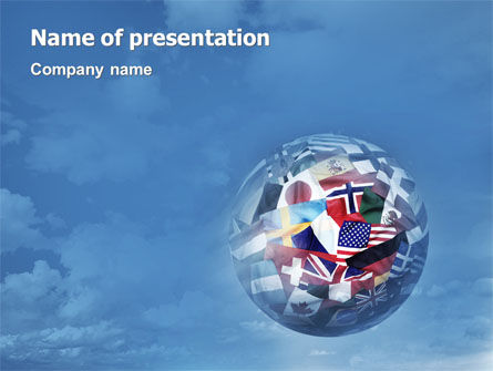 Global: World Flags PowerPoint Template #02153
