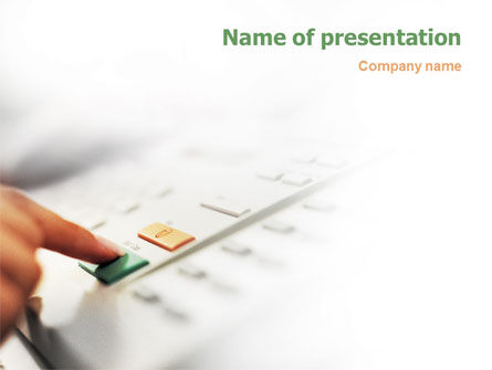 Telecommunication: Fax PowerPoint Template #02154