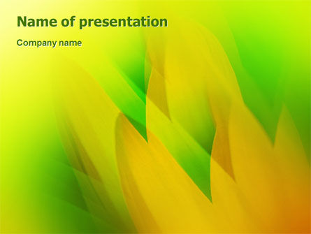 Nature & Environment: Yellow Petals PowerPoint Template #02155