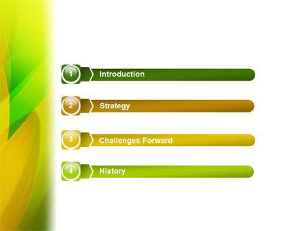 Yellow Petals PowerPoint Template, Slide 3, 02155, Nature & Environment — PoweredTemplate.com