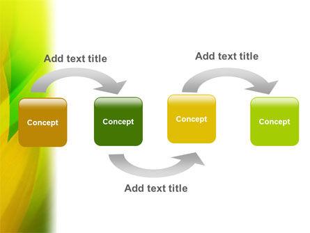 Yellow Petals PowerPoint Template, Slide 4, 02155, Nature & Environment — PoweredTemplate.com