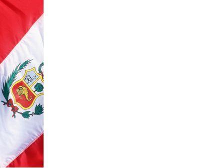 Flag of Peru PowerPoint Template, Slide 3, 02158, Flags/International — PoweredTemplate.com