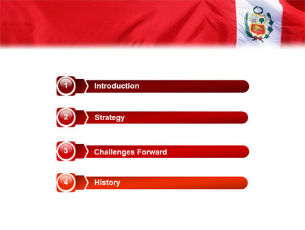 Flag of Peru PowerPoint Template Slide 3