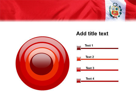 Flag of Peru PowerPoint Template Slide 9