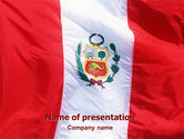 Flags/International: Flag of Peru PowerPoint Template #02158