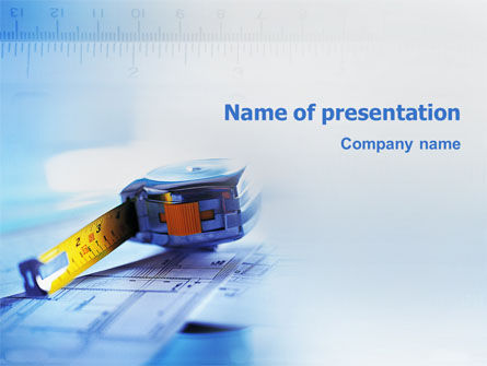 Construction: Tape Line PowerPoint Template #02161