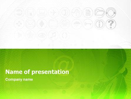 Technology and Science: Icons PowerPoint Template #02162