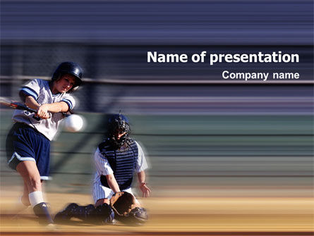 Softball PowerPoint Template, 02165, Sports — PoweredTemplate.com