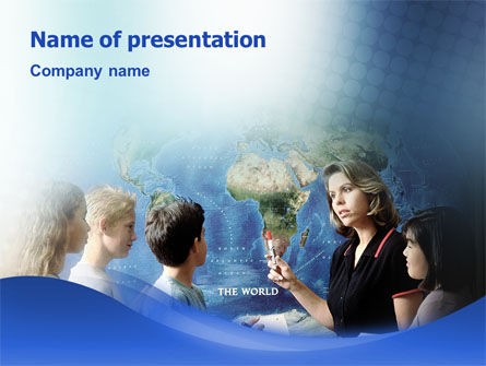World Knowledge PowerPoint Template, 02166, Education & Training — PoweredTemplate.com