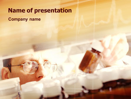 Medical: Medicine Prescription PowerPoint Template #02167