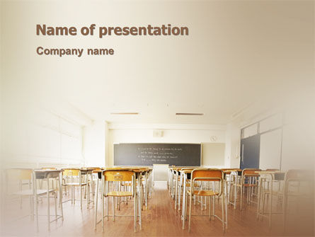 Education & Training: Gehoorzaal PowerPoint Template #02169