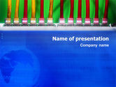 Telecommunication: Internet Switch PowerPoint Template #02170