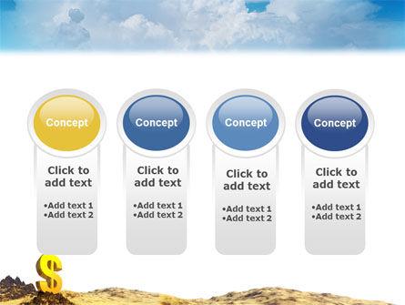 Dollar In Desert PowerPoint Template Slide 5