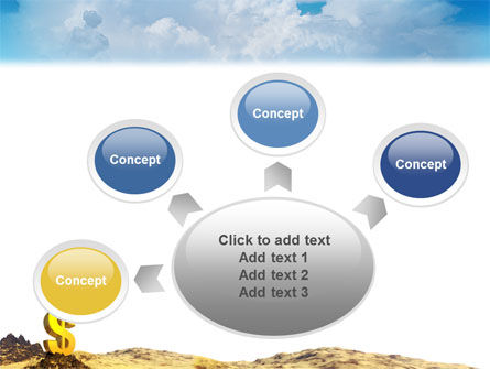 Dollar In Desert PowerPoint Template Slide 7