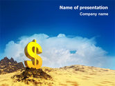 Financial/Accounting: Dollar In Desert PowerPoint Template #02172