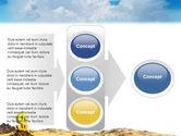Dollar In Desert PowerPoint Template#11