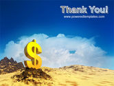 Dollar In Desert PowerPoint Template#20