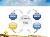 Dollar In Desert PowerPoint Template#6