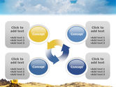 Dollar In Desert PowerPoint Template#9