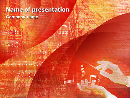 Art & Entertainment: Classical Music PowerPoint Template #02174