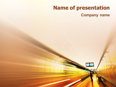 Cars and Transportation: Subway Station PowerPoint Template #02175