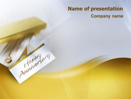 Holiday/Special Occasion: Happy Anniversary PowerPoint Template #02177