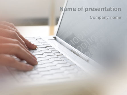 Technology and Science: Laptop Computer PowerPoint Template #02180