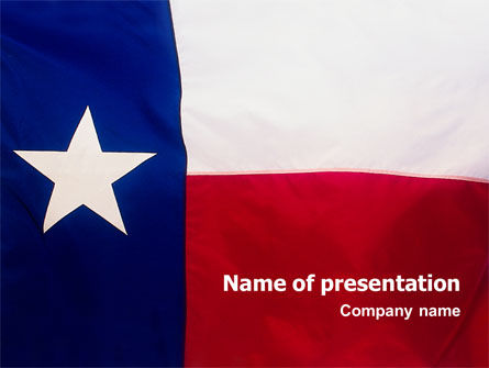 Flag of Texas PowerPoint Template, 02181, Flags/International — PoweredTemplate.com