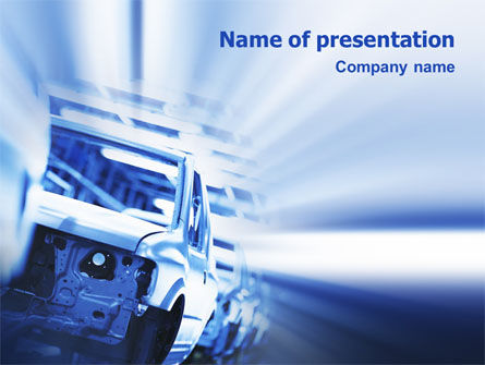 Car Manufacturing PowerPoint Template, 02182, Utilities/Industrial — PoweredTemplate.com