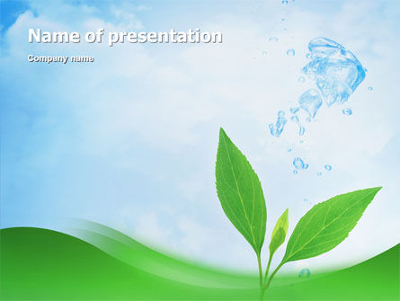 Pure Nature PowerPoint Template, 02183, Nature & Environment — PoweredTemplate.com