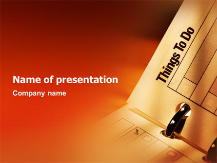 Task List PowerPoint Template, 02185, Business — PoweredTemplate.com